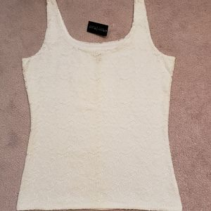 WHBM White Lace Top NWT
